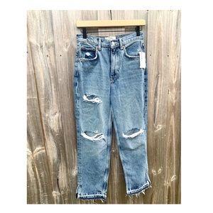 Free People Lita Slim Raw Hem Jeans